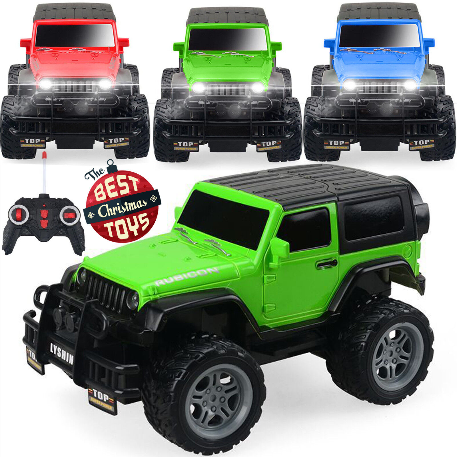 New Off Road Remote Control 1//18 2.4G 4WD Rock Crawler Radio RC Car Toy UK STOCK