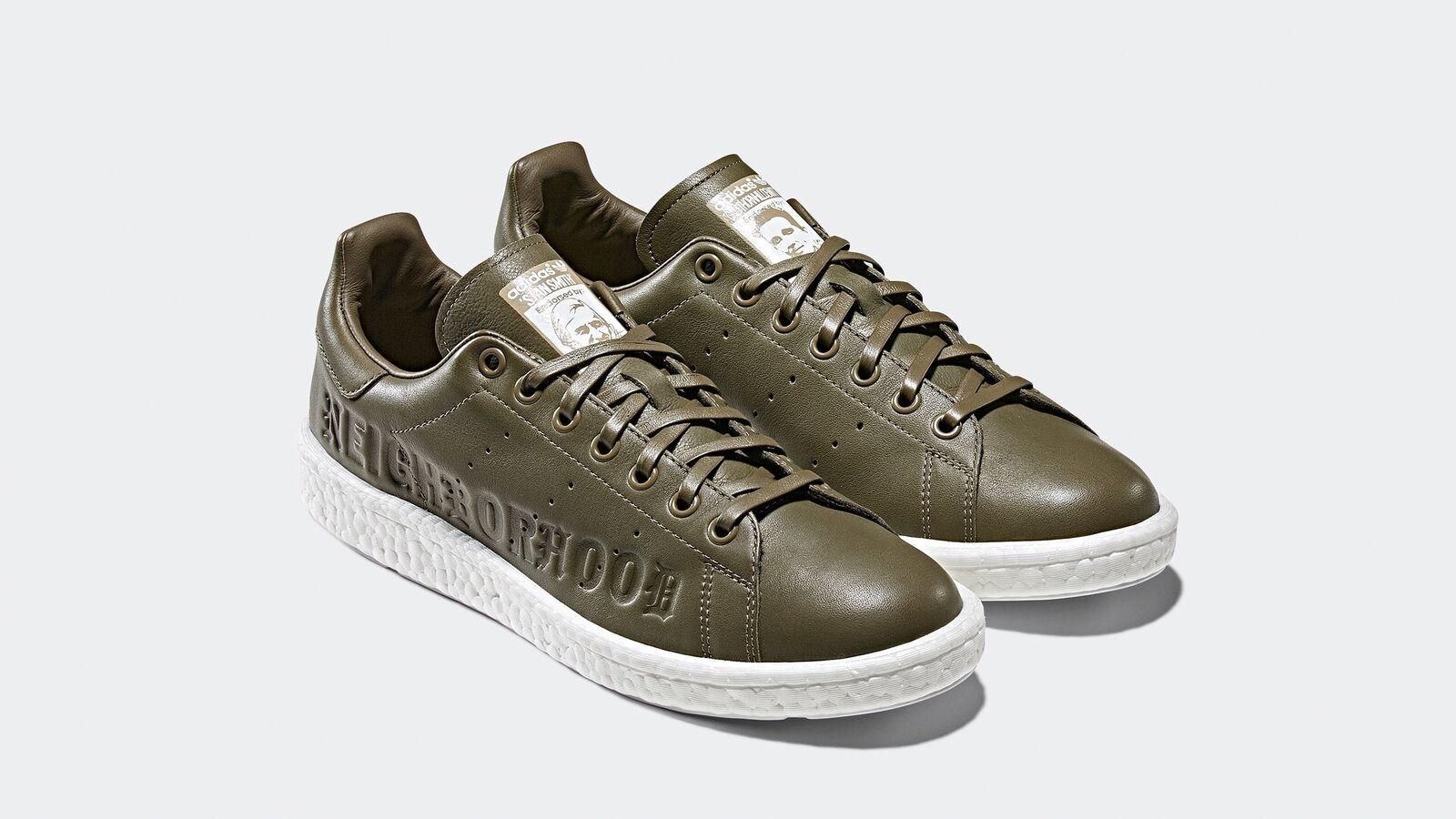 Adidas x NEIGHBORHOOD Stan Smith Boost Olive verde  B37342 Dimensione 9 US  comodamente