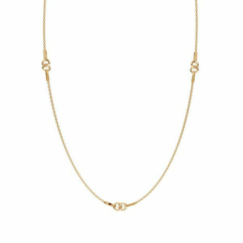 24K Plaqué Or Sterling Silver Trace Chain 1.0 mm 17 in Chain Findings environ 43.18 cm