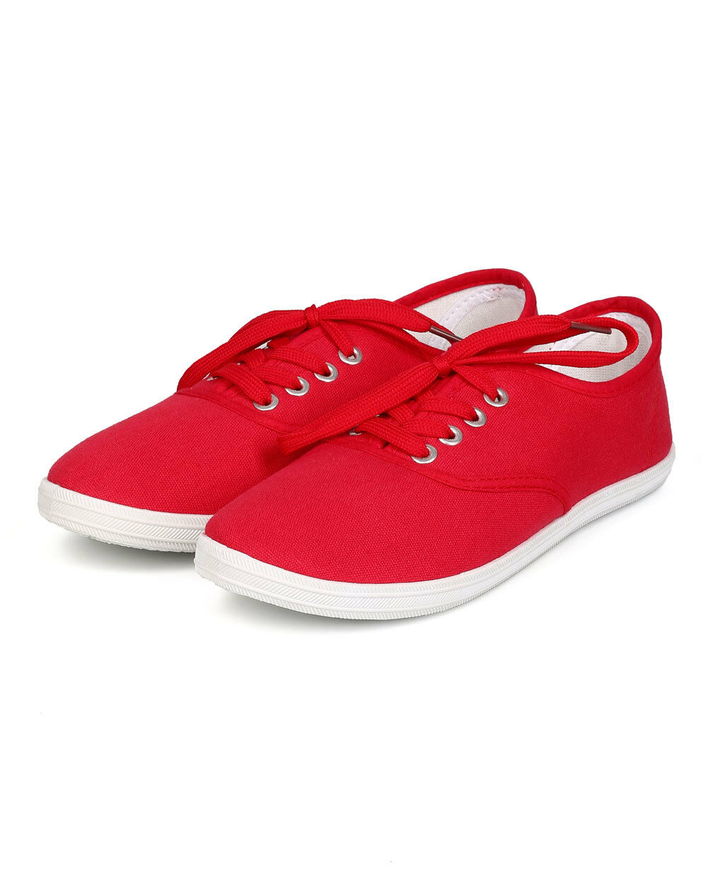 New Women Refresh Lemon Canvas Up Round Toe Classic Lace Up Canvas Sneaker Size 637b36