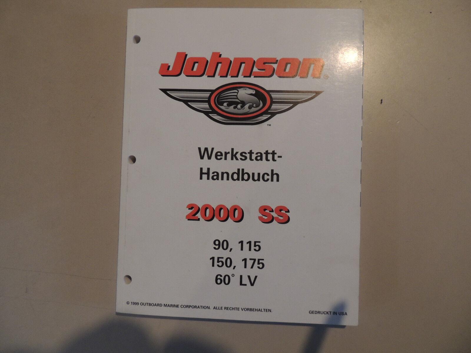 Werkstatthandbuch Johnson Außenborder SS 2000 90 100 105 115 150 175 PS 60°LV