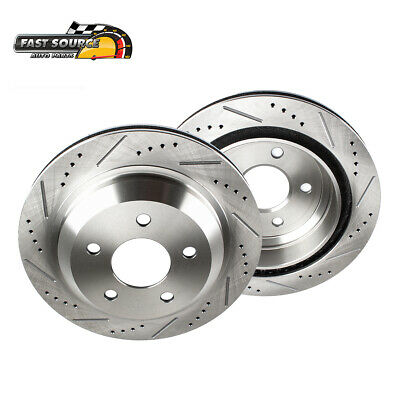 Performance Pad Fits 03-04 2005 Infiniti G35 Rear Drilled Slotted Rotors 4 2