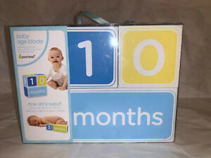Baby-s-First-Year-Blocks-Photo-Picture-Days-Weeks-Months-Years-Blue-Yellow-Green