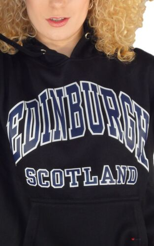 Edinburgh Top Scotland large 2x Hoodie Womens Black wCURf