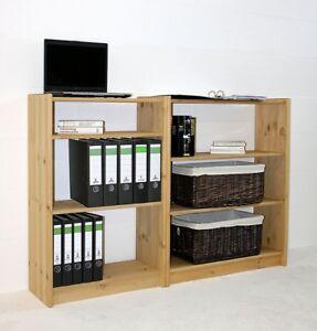 Details zu Massivholz Büro-regal Kiefer gelaugt geölt NEU Bücher-schrank  holz Küchen regale