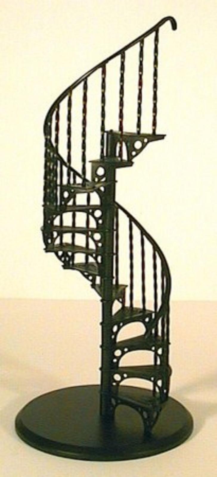 Maison de poupées Spiral Staircase Staircase Staircase Kit métal échelle 1:12 miniature escalier 9d1879