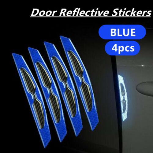2x Blue Car Door Edge Guard Safety Warning Reflective Sticker Tape Decal Strips