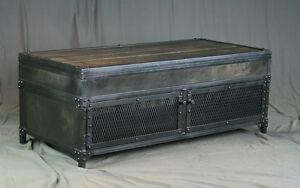 Image Is Loading Vintage Lift Top Coffee Table Handmade Reclaimed