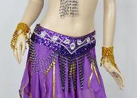 New Belly Dance Costum Handmade Hip Scarf Belt 8 colours