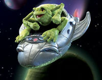 Frog In A Spaceship 2837 Free Shipping /usa Folkmanis Puppets