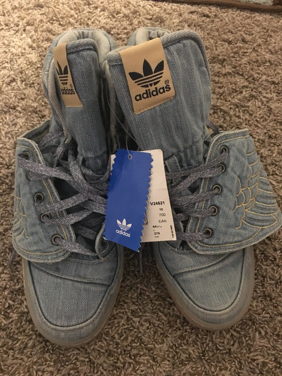 adidas jeremy scott denim wing shoes