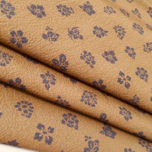 Peanut #A 14.5x37 Vintage Silk Japanese Kimono Fabric Authentic High Quality