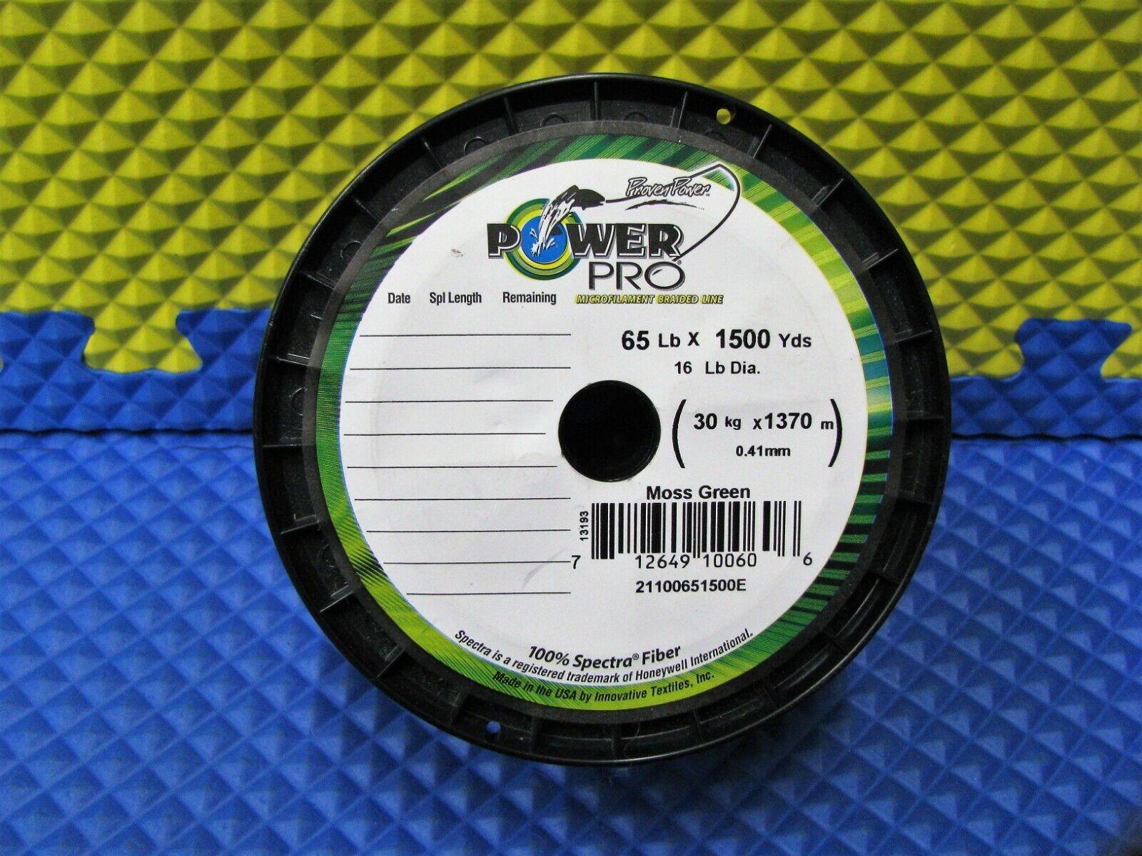 Power Pro microfilament trenzada de pesca línea 65 lb. 1500 yds. 13193 verde Musgo