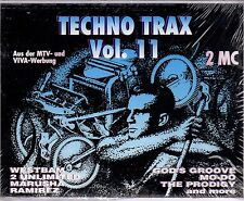 Techno Trax, Vol. 11 by Various Artists (Cassette, 1994, 2 Tapes, ZYX Music)