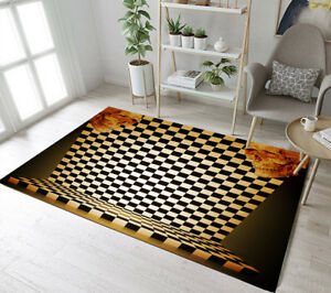 Image Is Loading Indoor Outdoor Area Rugs Black And White Checkered