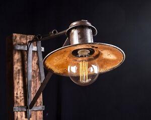 Eisen Lampe 40 - 50er alte draußen eisen lampe fabrik hängelampe loft lamp