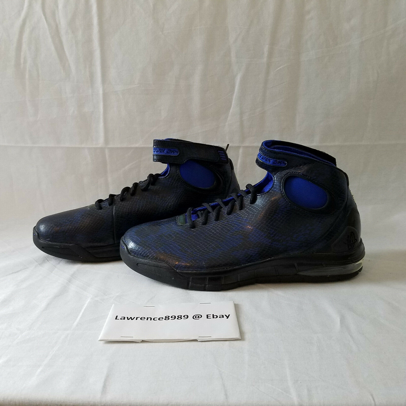 RARE DS Nike Zoom Air Huarache 2k4 Snakeskin Royal bluee Black 312544-401 US10.5