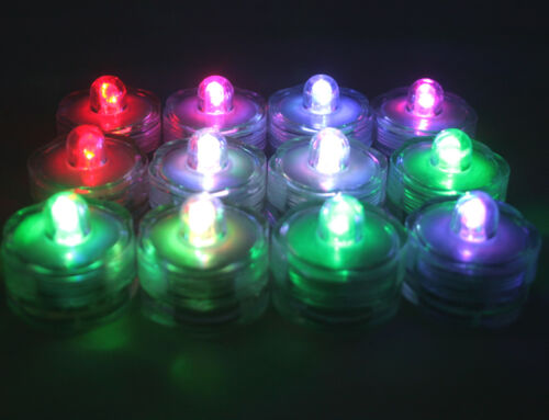 New 48 pcs Multi-Color Changing underwater LED Submersible Candles LED tealights