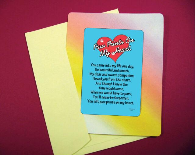 """""""Paw Prints On My Heart"""" Poem - Keepsake Enclosed Verse ..."""