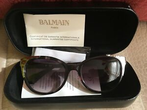 a69b3a1228d05 Image is loading Balmain-Tortoise-Shell-Cat-Eye-Sunglasses-Black-Brown-