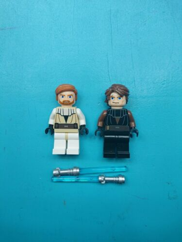 Lego Star Wars Lot of 2 Minifigures Jedi Master Obi-wan and Apprentice Anakin!