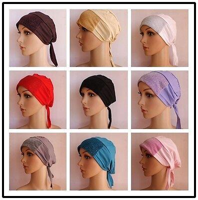 ST 2015 NEW STYLE Muslim Inner Hijab Amira Fashion Caps Islamic Underscarf Hats