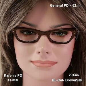 Bausch-amp-Lomb-B-amp-L-034-Lady-Burbank-034-CAT-EYE-True-Antique-NOS-Eyeglasses-20X46