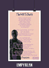 John Frusciante THE WILL TO DEATH Song Lyric Poster 11x17 Original Art Exclusive