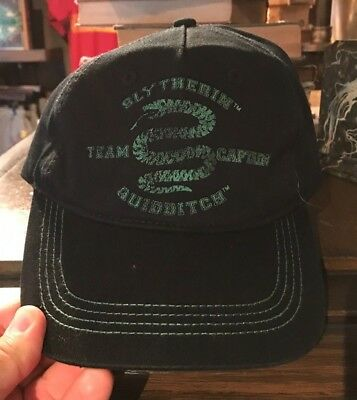 Universal Studios Harry Potter Slytherin Team Captain Quidditch Hat Cap New