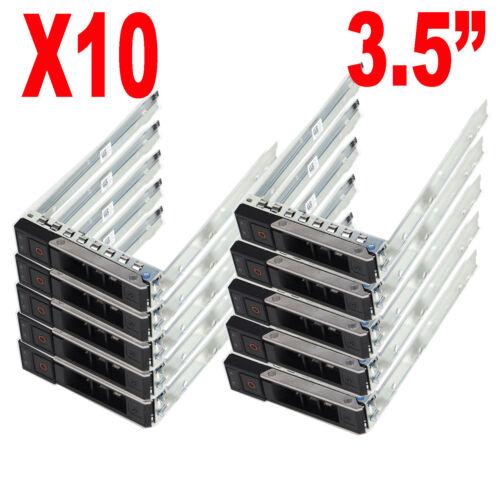 """10PCS 3.5/"""" SATA SAS Drive Tray Caddy X7K8W 0X7K8W For Dell R540 R640 R740 R740XD"""