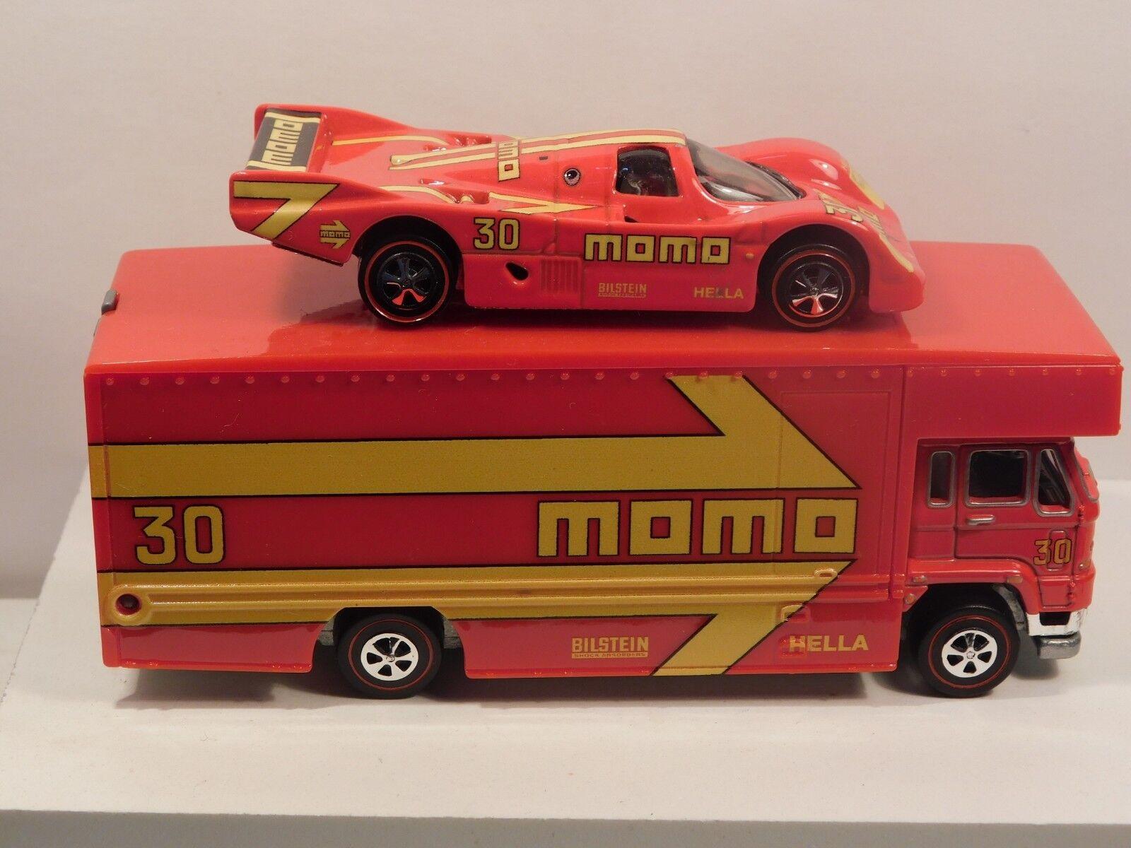 Momo Porsche Race Team Set Hot Wheels rougeline Premium Resto- Conversion