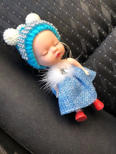 sleeping baby doll keychain Unique Doll Mini Key Holder bedazzled