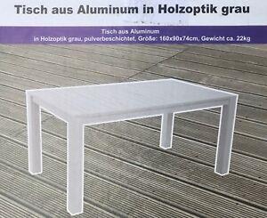 Gartentisch Alu Petra Stabiler Tisch Terrasse Wetterfest Neu Ovp