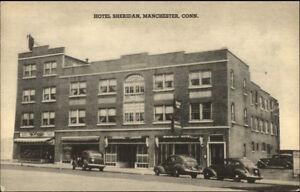 Manchester-CT-Hotel-Sheridan-Postcard