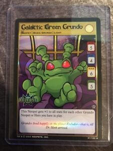 Neopets-Special-Release-Galactic-Green-Grundo-Trading-Card-RARE