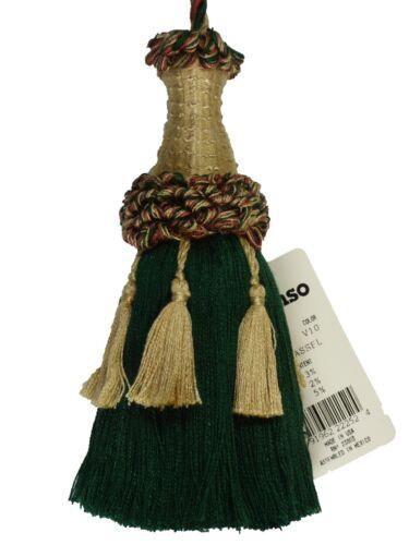 "Conso Empress 22010 V10 WHEAT HUNTER GREEN CLAY Decorative 5.5/"" Tassel"