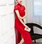 Women-Bodycon-Dress-Cheongsam-Side-Slit-Sexy-Lace-Slim-Dance-Party-Evening-Qipao thumbnail 5