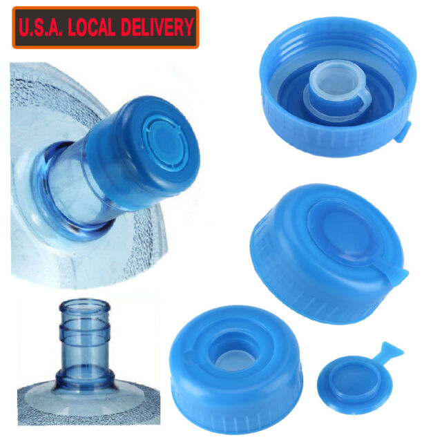 e7bb75a56cd Water Bottle Caps Gallon Screw On Cap Reusable Lid Drinking Primo 5pcs Non  Spill