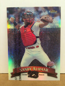 1998-Topps-Finest-Refractor-119-Sandy-Alomar-parallel-card-NM-M-Cle-Indians