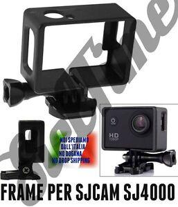 ACCESSORIO SUPPORTO PER SJCAM SJ4000 WIFI PROTECTING FRAME MOUNT SGANCIO RAPIDO