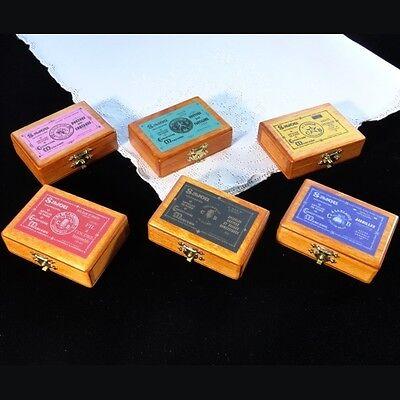 """FRENCH Miniature Wooden Box /"""" épingles couture et usage domestique/"""""""