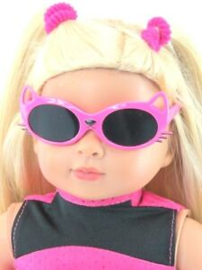 Pink-Kitty-Cat-Sunglasses-18-in-Doll-Clothes-Accessory-Fits-American-Girl