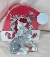 Nao By Lladro Kitty's Christmas Brand In Tin Box 7428 Porcelain Save$$ F/sh