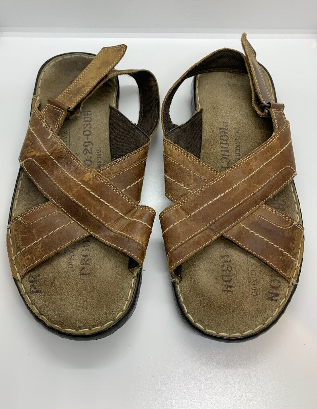 Easy Brown Leather Premium Leather Comfort Cushioned Inners Sandals Size 9