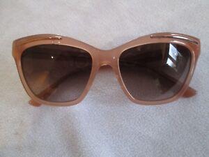 02640d627bd Image is loading Sonia-Rykiel-peach-frame-handmade-sunglasses-7647