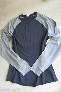 Lululemon Mens Bodhi LS Long Sleeve Heathered Inkwell