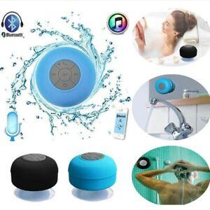 Waterproof Wireless Bluetooth Speaker Phone Call Suction Car Bathroom Shower Uk Ebay