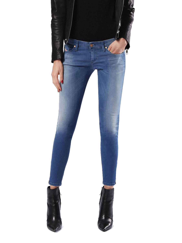 Diesel Skinzee-Low-Zip 0854H women Jeans Aderenti Super-Sottile