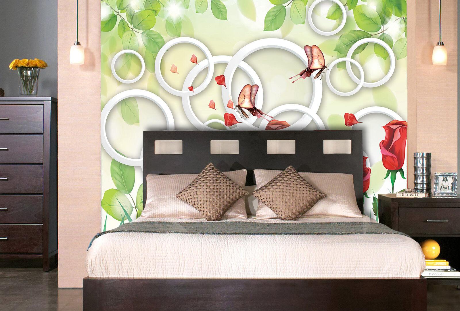 3D Schmetterling, Ballon 87 Fototapeten Wandbild Fototapete BildTapete FamilieDE
