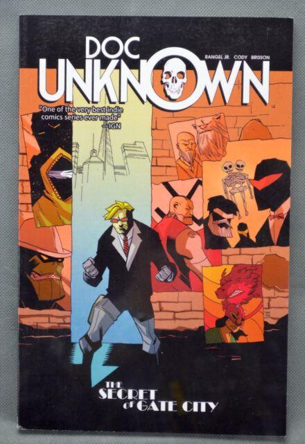 Doc Unknown Volume 1 The Secret at Gate City Comic Signed Fabian Rangel Jr 2013